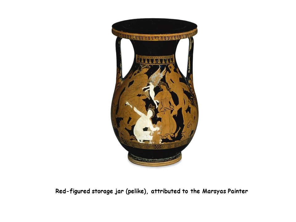 Red-figured storage jar (pelike), attributed to the Marsyas Painter