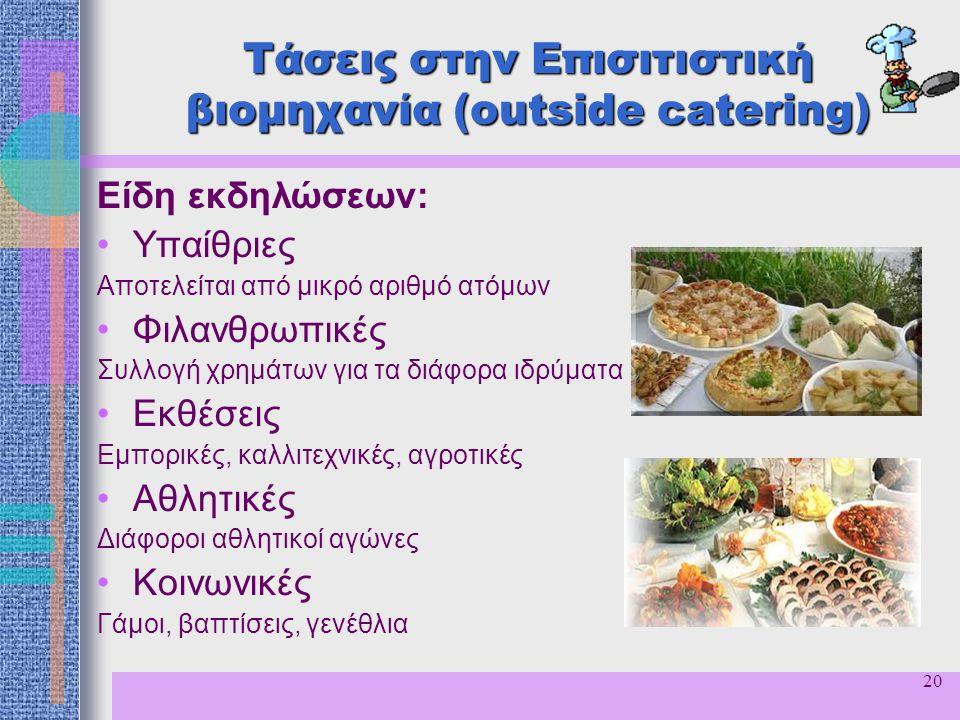 Τάσεις στην Επισιτιστική βιομηχανία (outside catering)