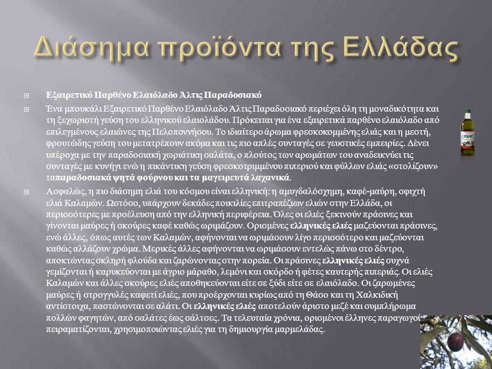 Διάσημα προϊόντα της Ελλάδας