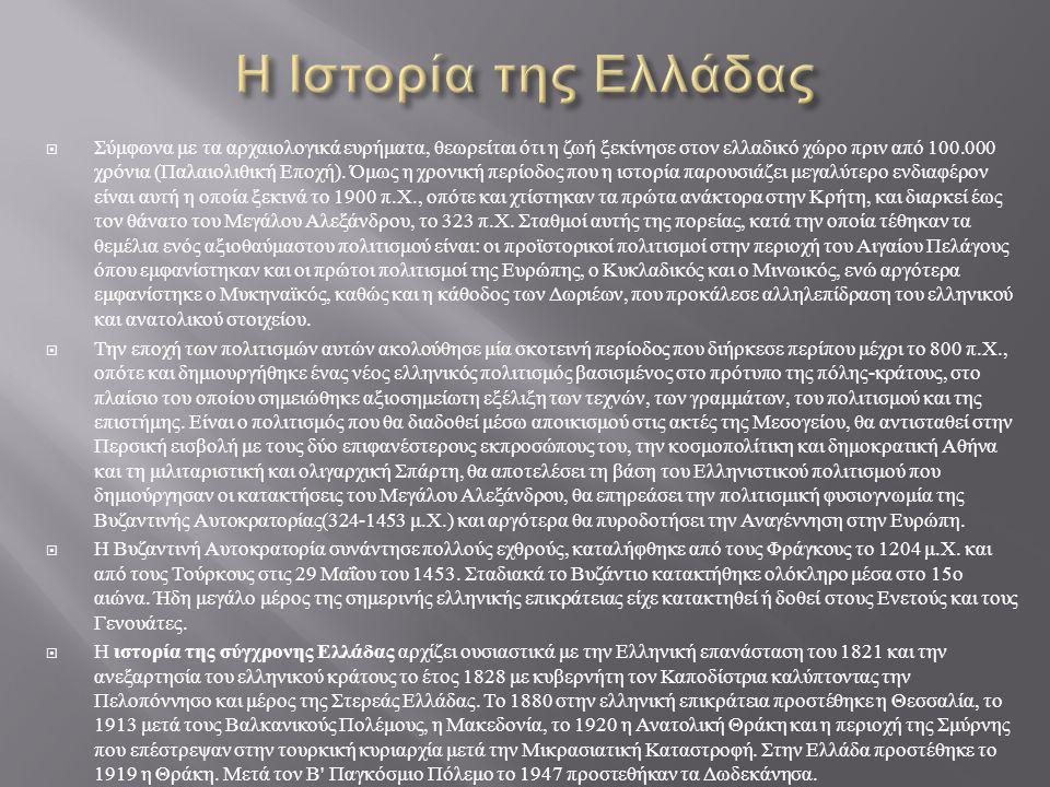 Η Ιστορία της Ελλάδας