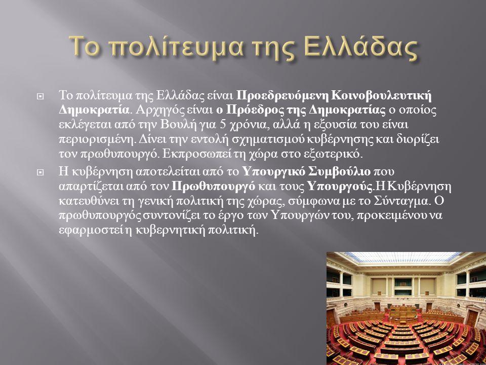 Το πολίτευμα της Ελλάδας