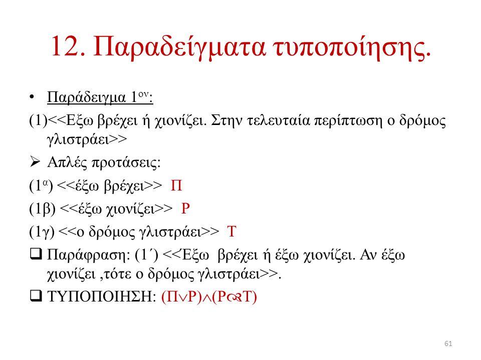 12. Παραδείγματα τυποποίησης.
