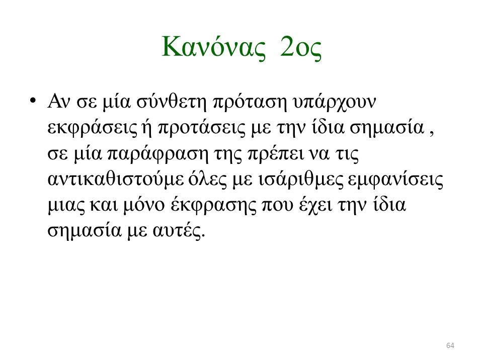 Κανόνας 2ος