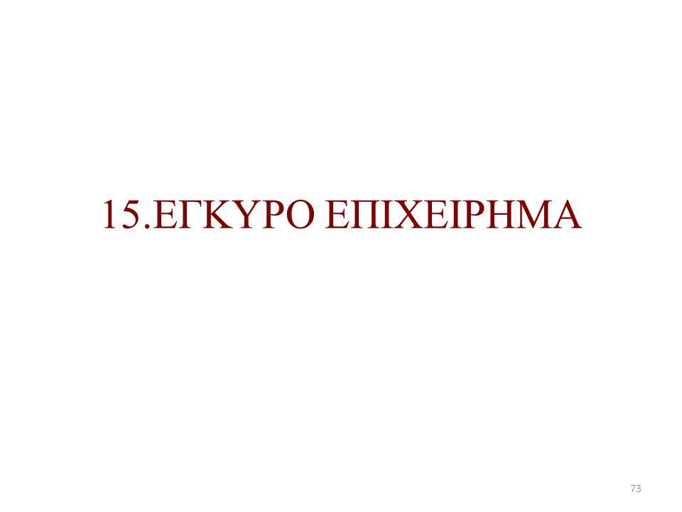 15.ΕΓΚΥΡΟ ΕΠΙΧΕΙΡΗΜΑ