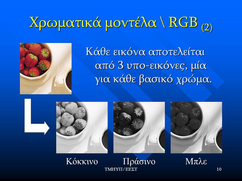 Χρωματικά μοντέλα \ RGB (2)