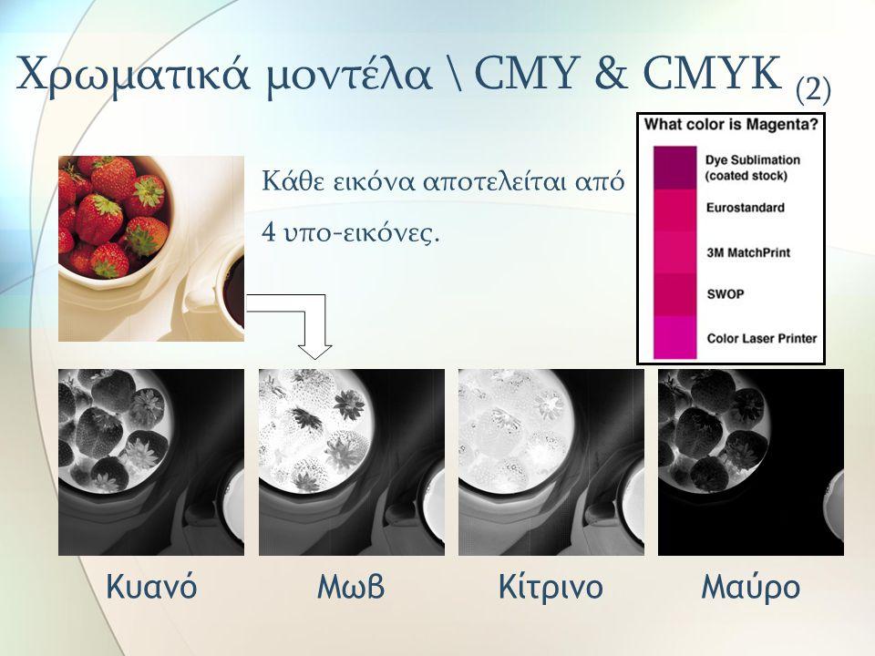 Χρωματικά μοντέλα \ CMY & CMYK (2)
