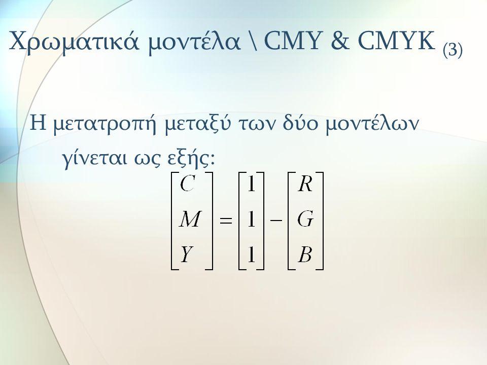 Χρωματικά μοντέλα \ CMY & CMYK (3)