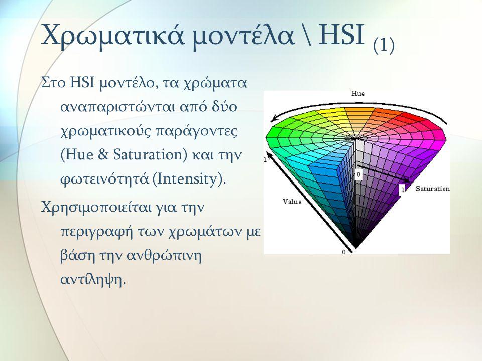 Χρωματικά μοντέλα \ HSI (1)
