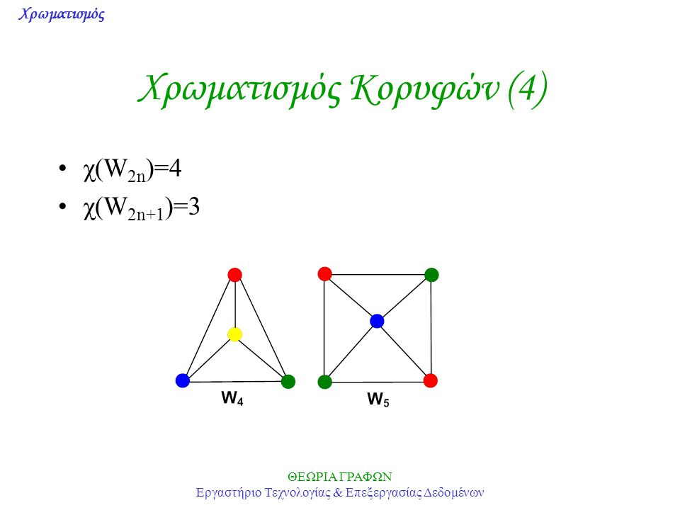 Χρωματισμός Κορυφών (4)