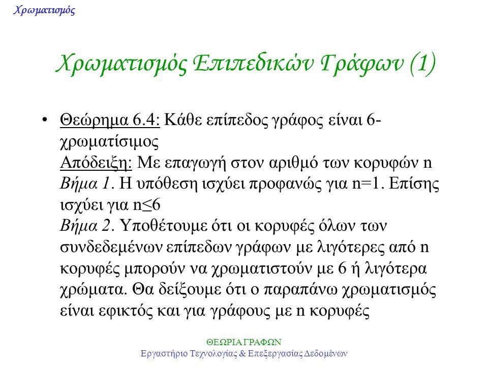 Χρωματισμός Επιπεδικών Γράφων (1)
