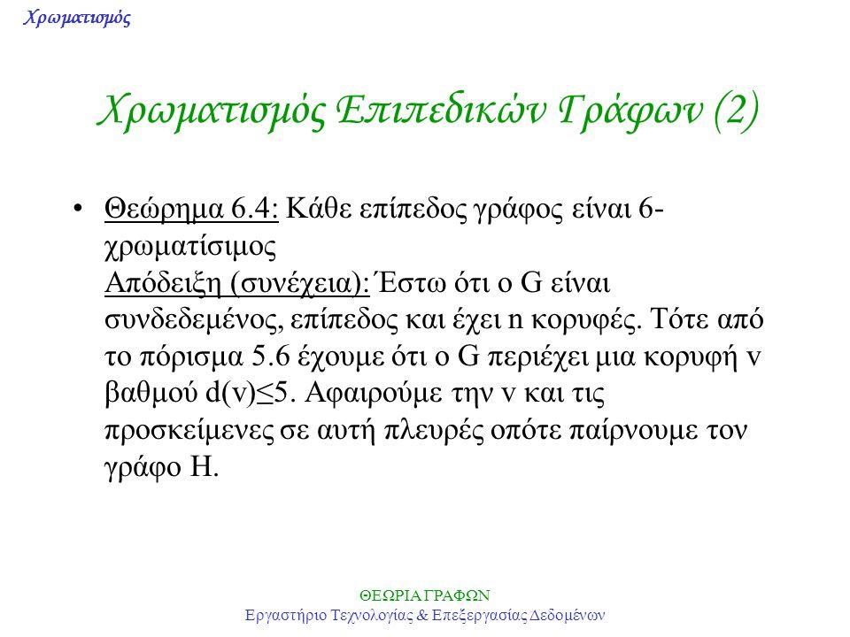 Χρωματισμός Επιπεδικών Γράφων (2)