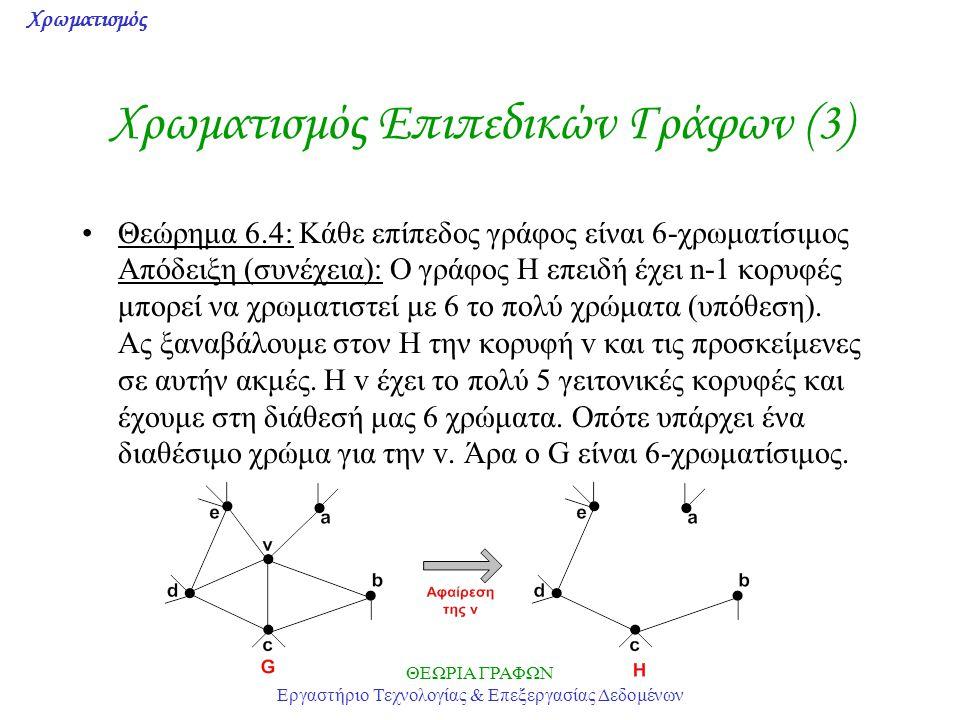 Χρωματισμός Επιπεδικών Γράφων (3)