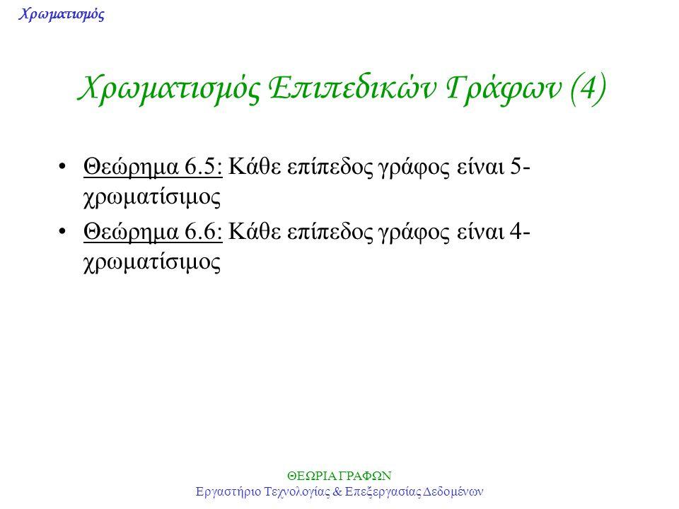 Χρωματισμός Επιπεδικών Γράφων (4)