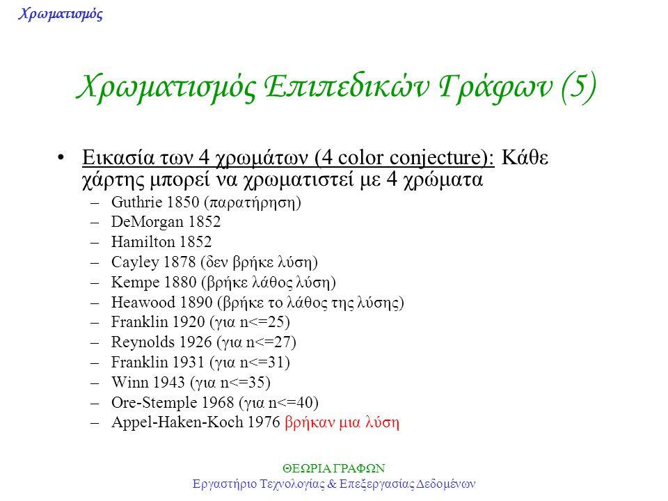 Χρωματισμός Επιπεδικών Γράφων (5)