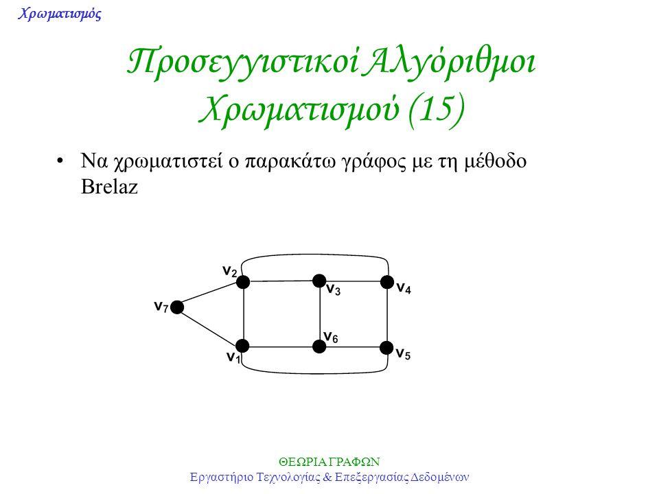 Προσεγγιστικοί Αλγόριθμοι Χρωματισμού (15)