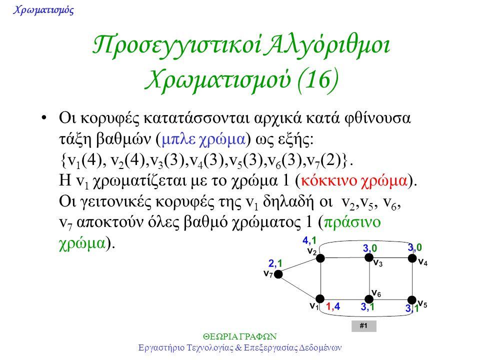 Προσεγγιστικοί Αλγόριθμοι Χρωματισμού (16)