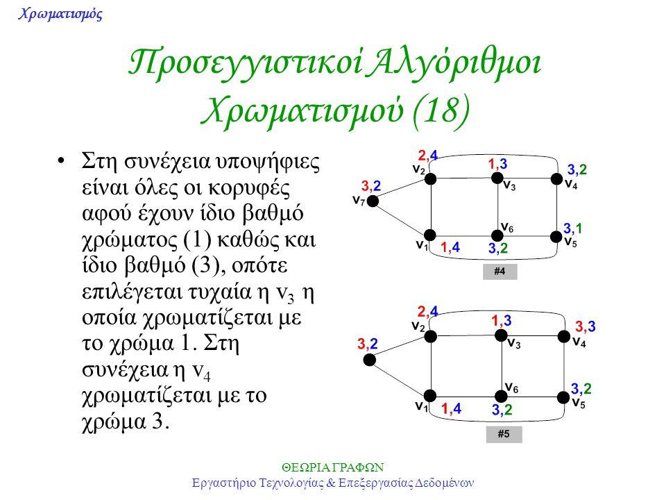 Προσεγγιστικοί Αλγόριθμοι Χρωματισμού (18)