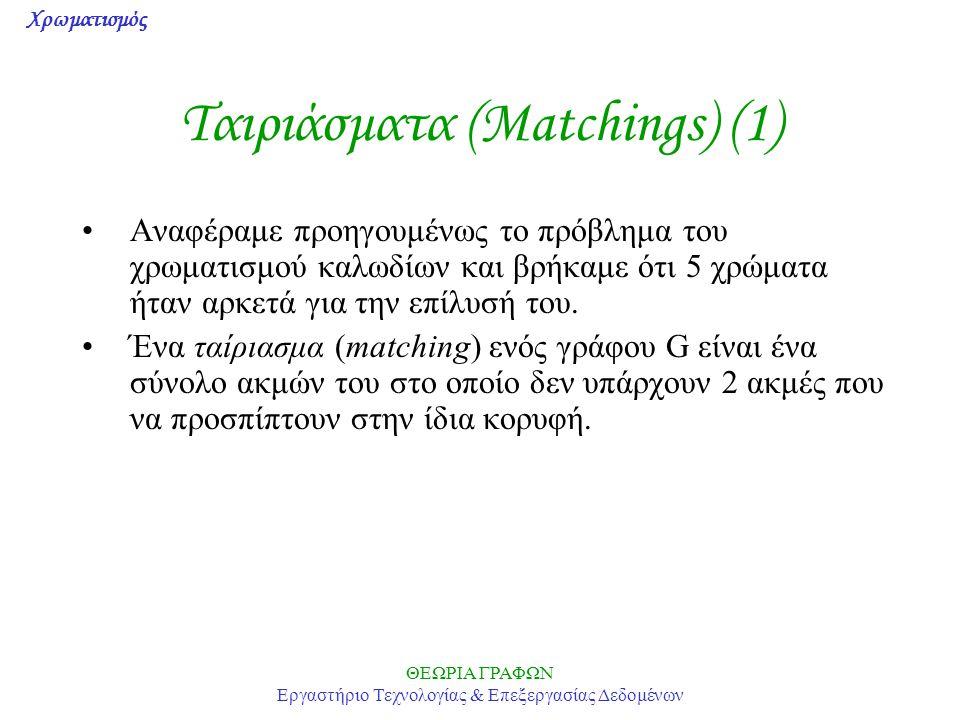 Ταιριάσματα (Matchings) (1)
