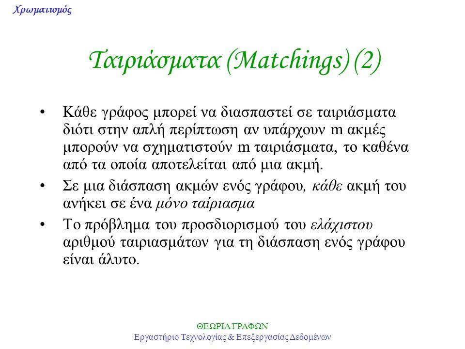Ταιριάσματα (Matchings) (2)