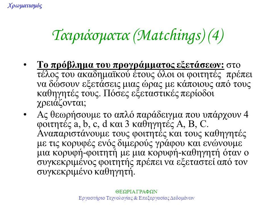 Ταιριάσματα (Matchings) (4)