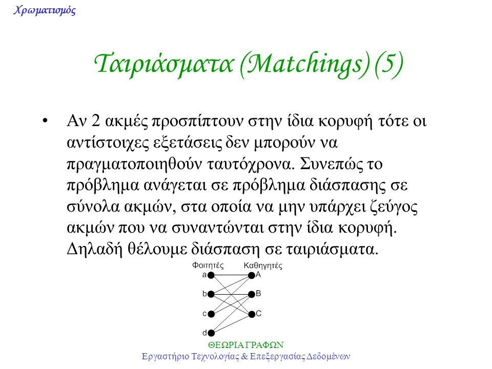 Ταιριάσματα (Matchings) (5)