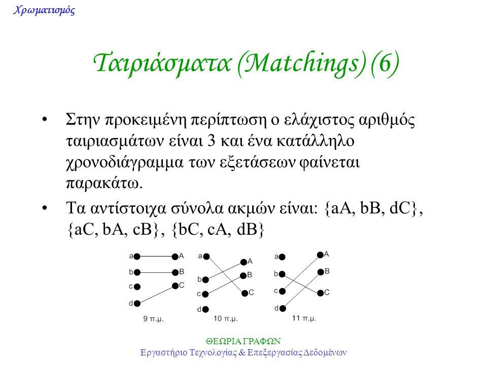 Ταιριάσματα (Matchings) (6)
