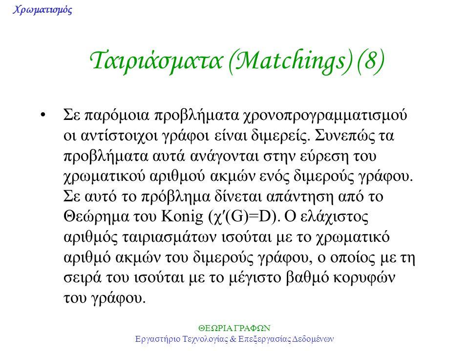 Ταιριάσματα (Matchings) (8)
