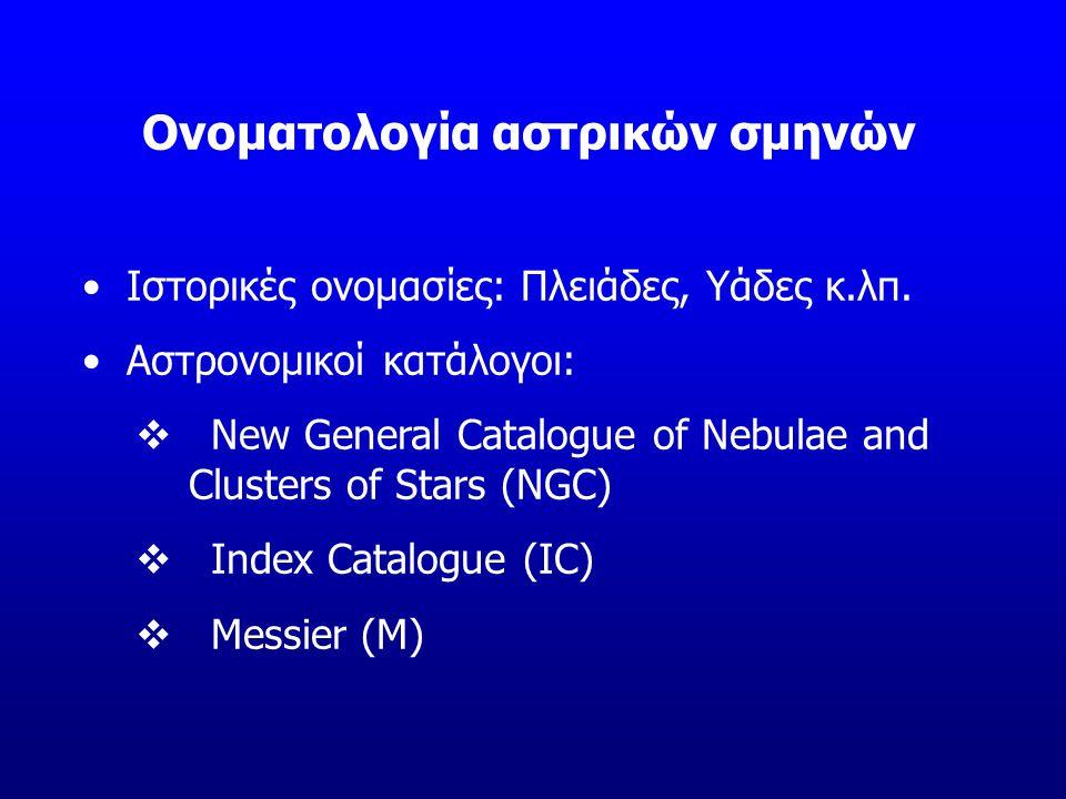 Ονοματολογία αστρικών σμηνών