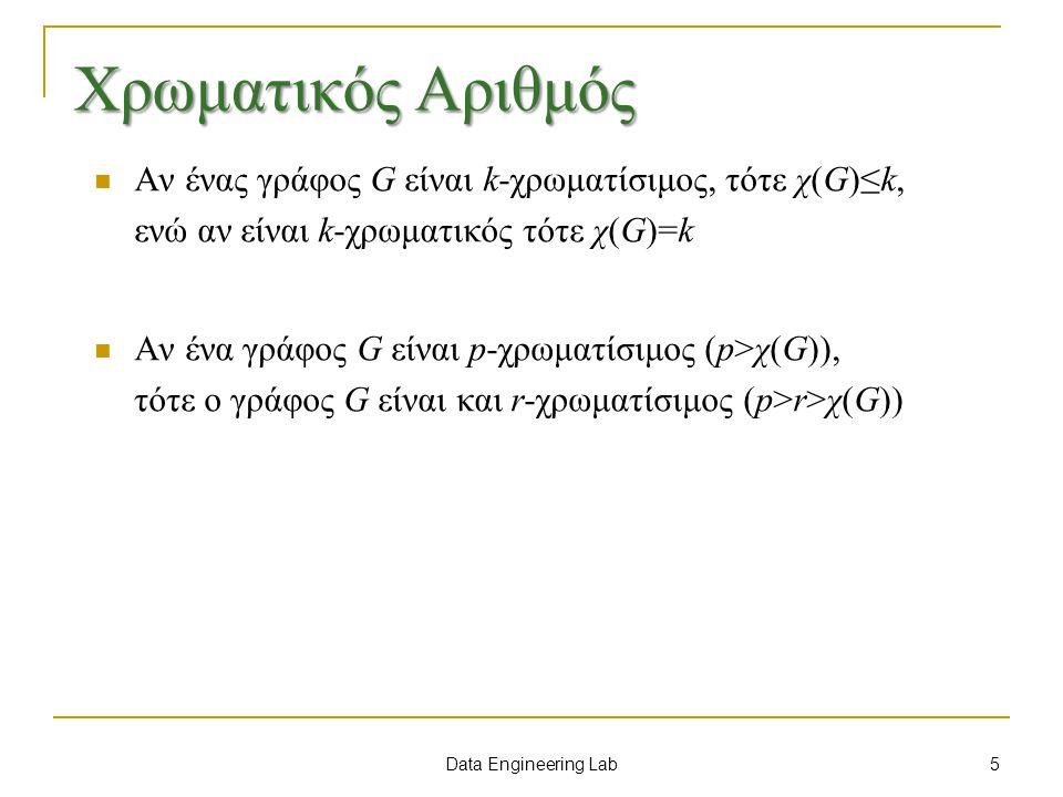 Χρωματικός Αριθμός Αν ένας γράφος G είναι k-χρωματίσιμος, τότε χ(G)≤k, ενώ αν είναι k-χρωματικός τότε χ(G)=k.