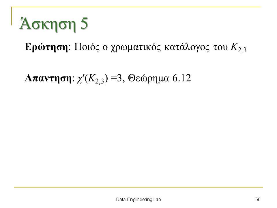Άσκηση 5 Ερώτηση: Ποιός ο χρωματικός κατάλογος του K2,3