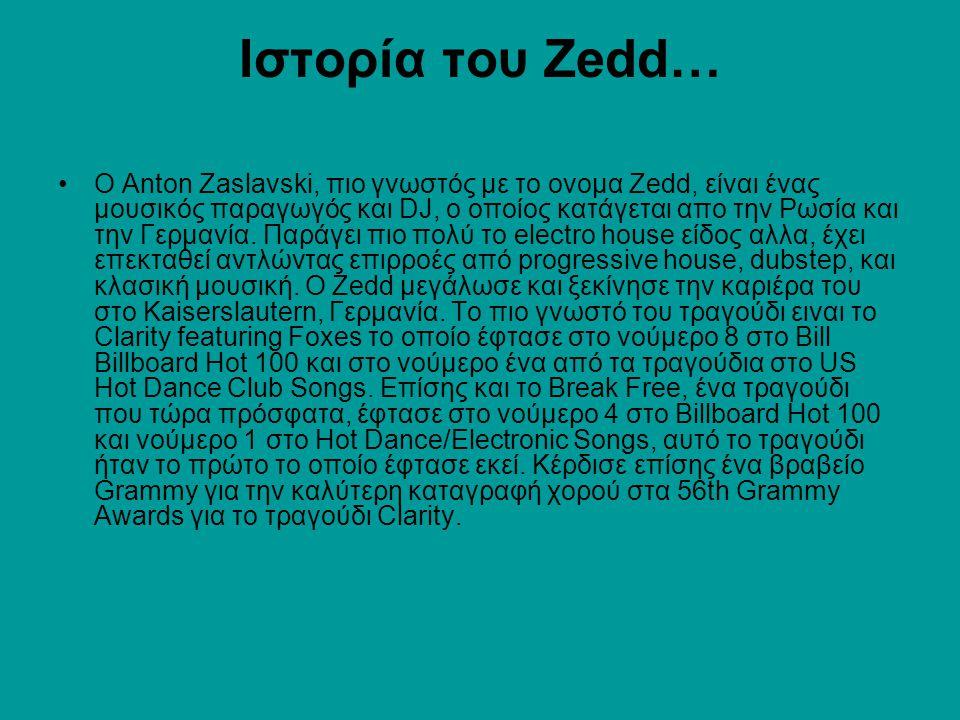 Ιστορία του Zedd…