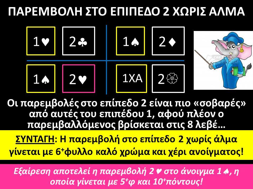 ΠΑΡΕΜΒΟΛΗ ΣΤΟ ΕΠΙΠΕΔΟ 2 ΧΩΡΙΣ ΑΛΜΑ