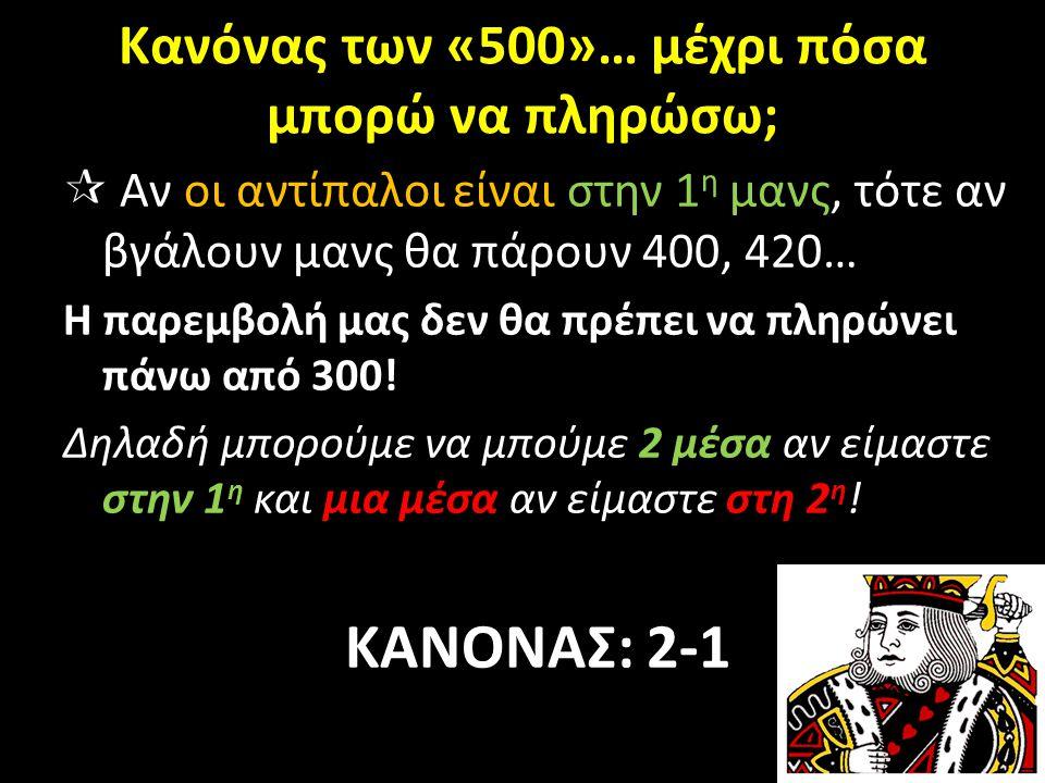 Κανόνας των «500»… μέχρι πόσα μπορώ να πληρώσω;