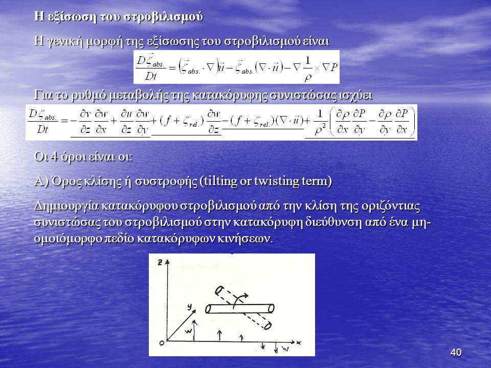 Η εξίσωση του στροβιλισμού