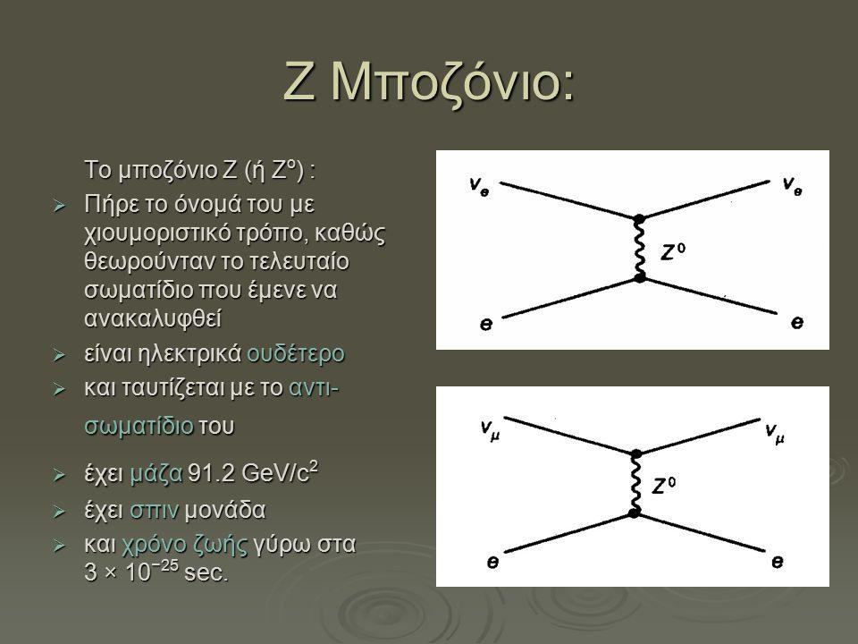Ζ Μποζόνιο: Το μποζόνιο Z (ή Zο) :