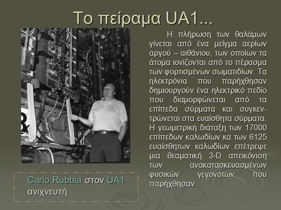 Τo πείραμα UA1... Carlo Rubbia στον UA1 ανιχνευτή