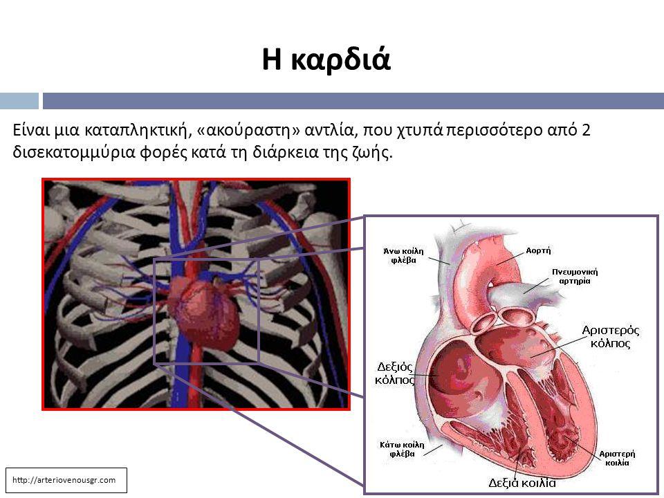 Η καρδιά Είναι μια καταπληκτική, «ακούραστη» αντλία, που χτυπά περισσότερο από 2 δισεκατομμύρια φορές κατά τη διάρκεια της ζωής.