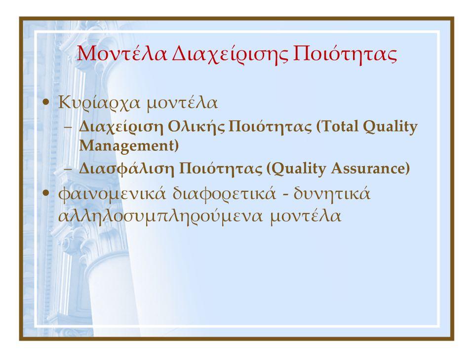Μοντέλα Διαχείρισης Ποιότητας