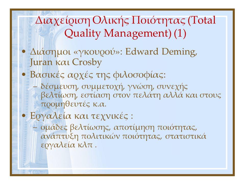 Διαχείριση Ολικής Ποιότητας (Total Quality Management) (1)