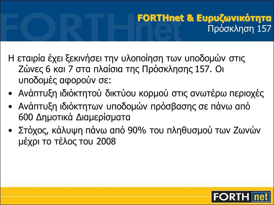 FORTHnet & Ευρυζωνικότητα Πρόσκληση 157