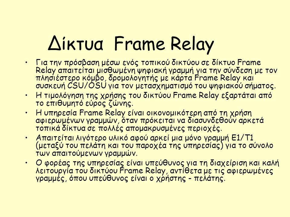 Δίκτυα Frame Relay