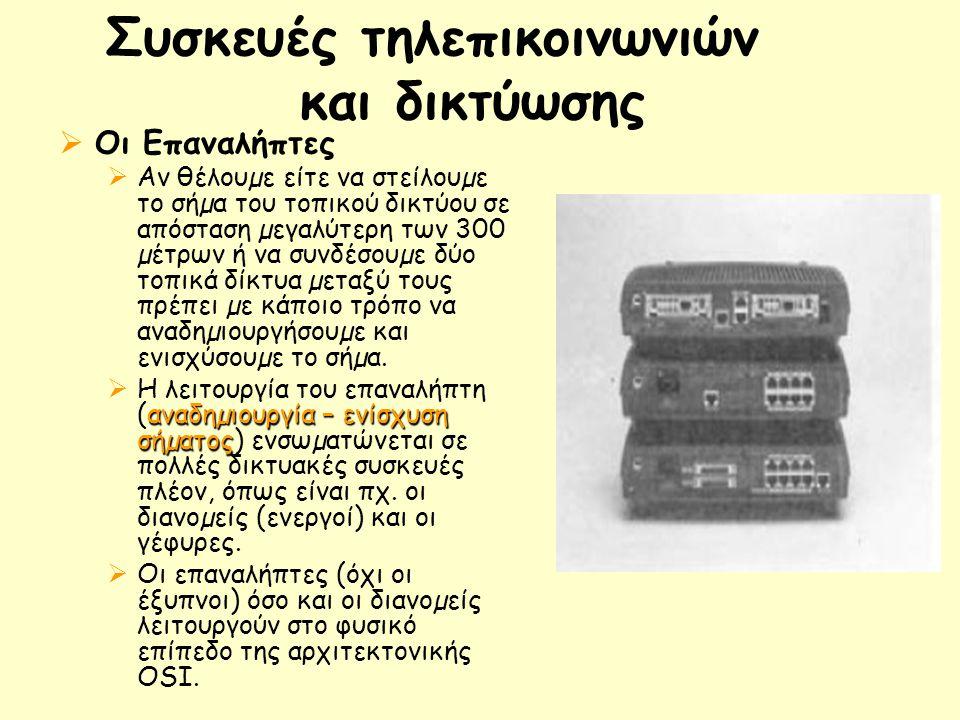 Συσκευές τηλεπικοινωνιών και δικτύωσης