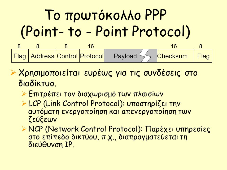Το πρωτόκολλο PPP (Point- to - Point Protocol)