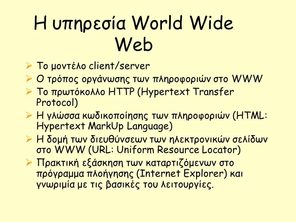 Η υπηρεσία World Wide Web