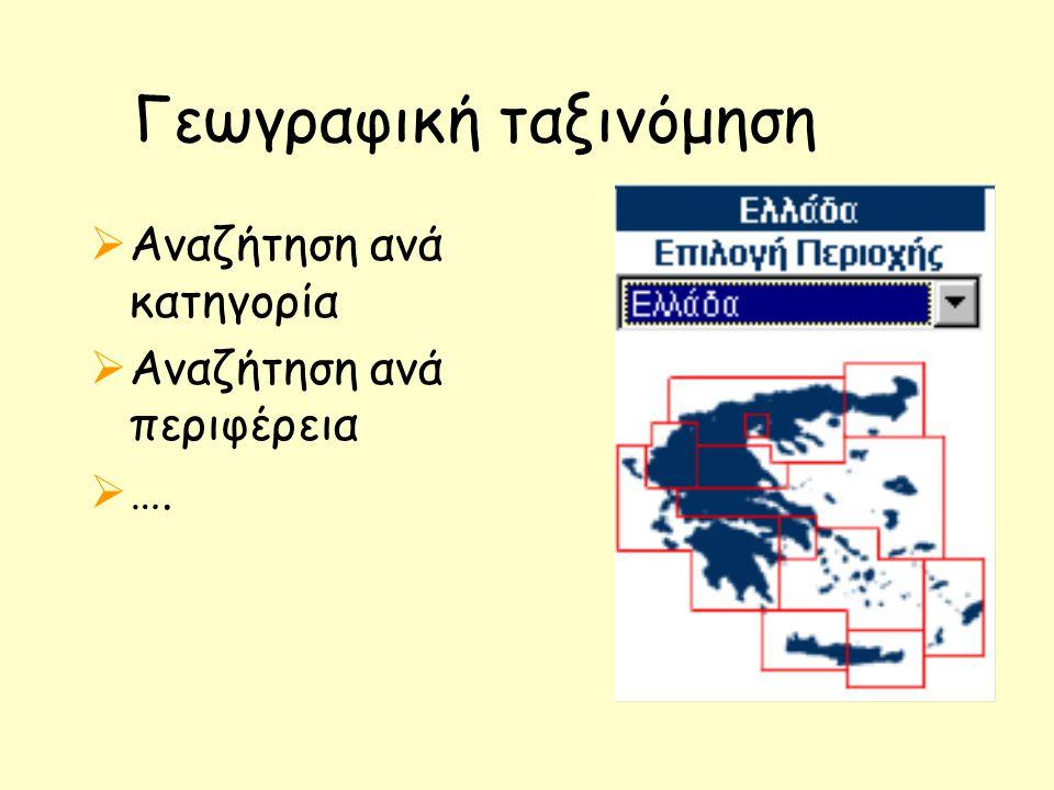 Γεωγραφική ταξινόμηση
