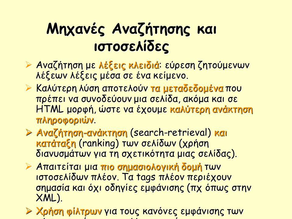 Μηχανές Αναζήτησης και ιστοσελίδες