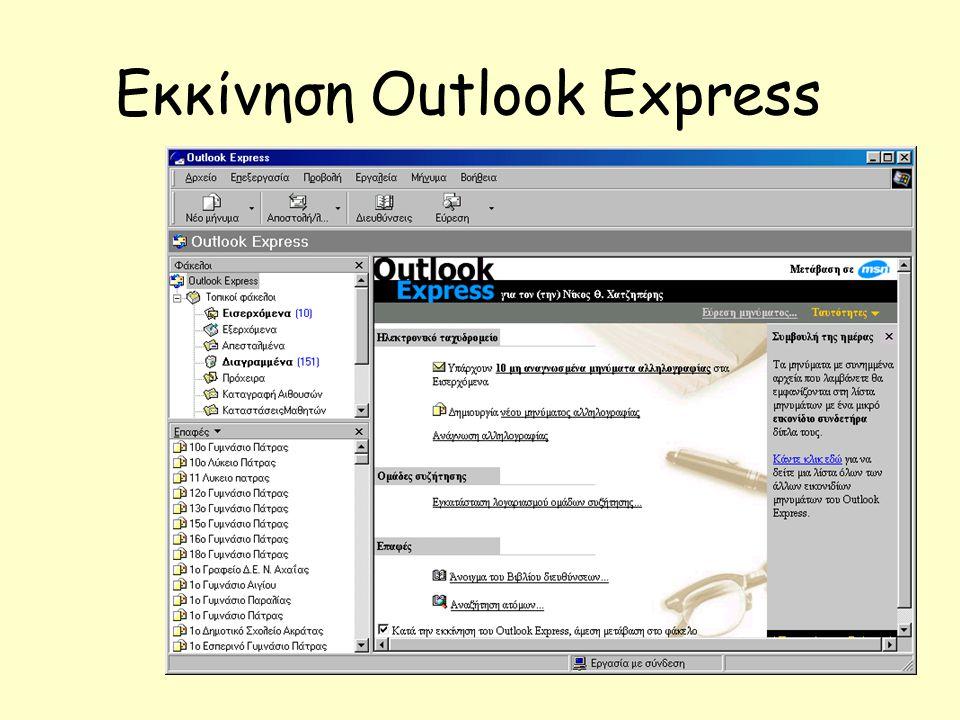 Εκκίνηση Outlook Express
