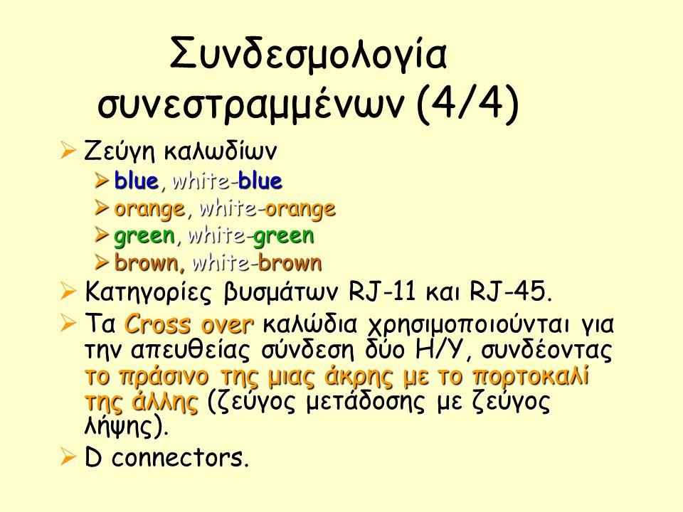Συνδεσμολογία συνεστραμμένων (4/4)