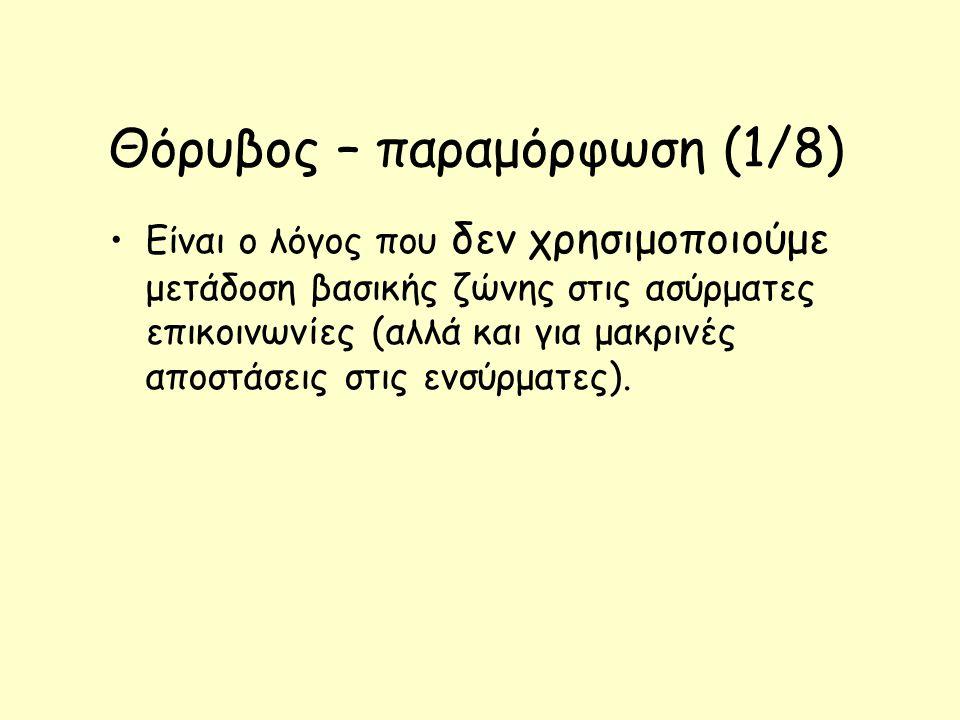 Θόρυβος – παραμόρφωση (1/8)