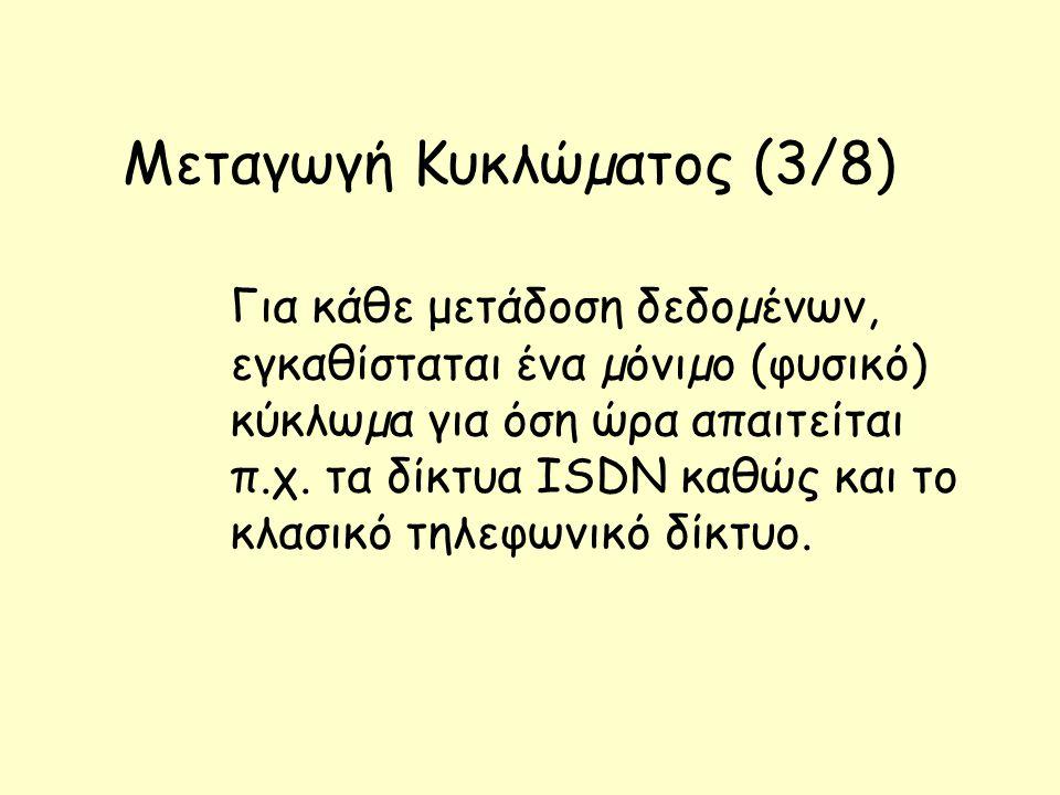 Μεταγωγή Κυκλώµατος (3/8)